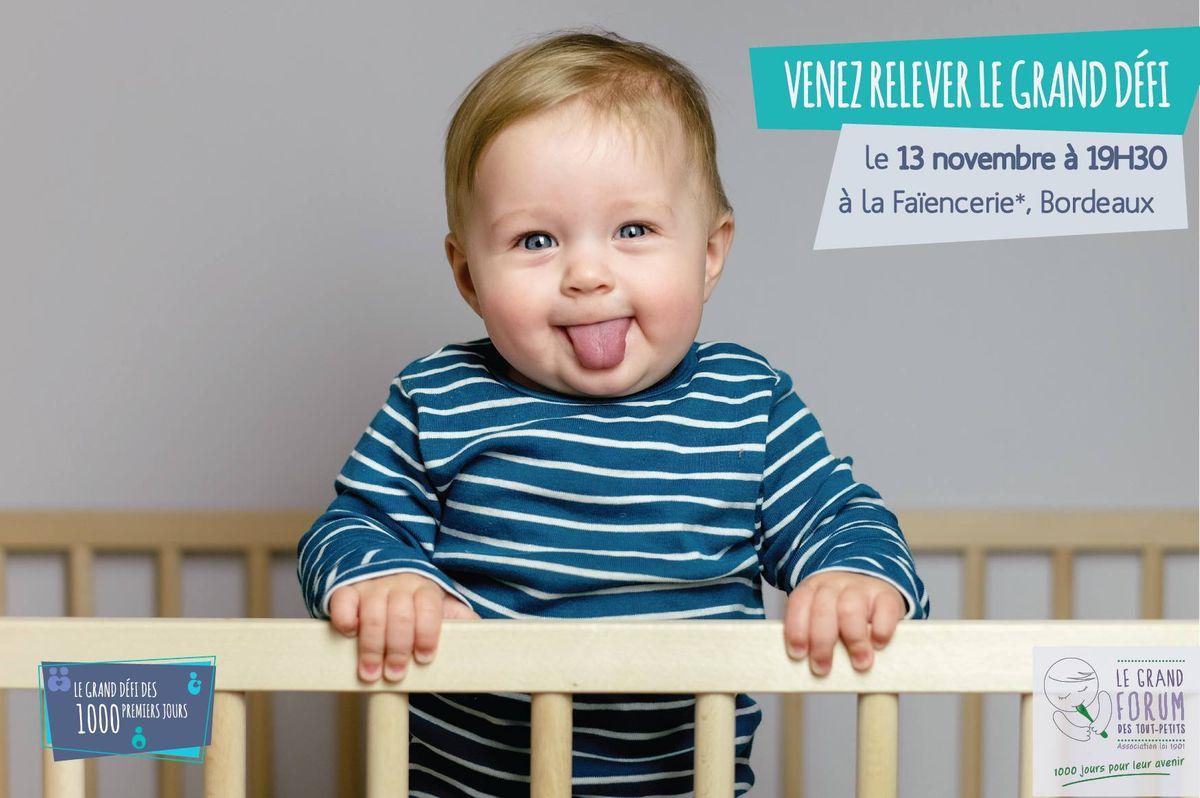 Le Grand Défi des 1000 premiers jours, 13 novembre 2018 à la Faïencerie Bordeaux